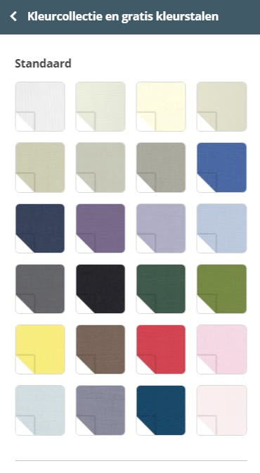 Gratis kleurstalen