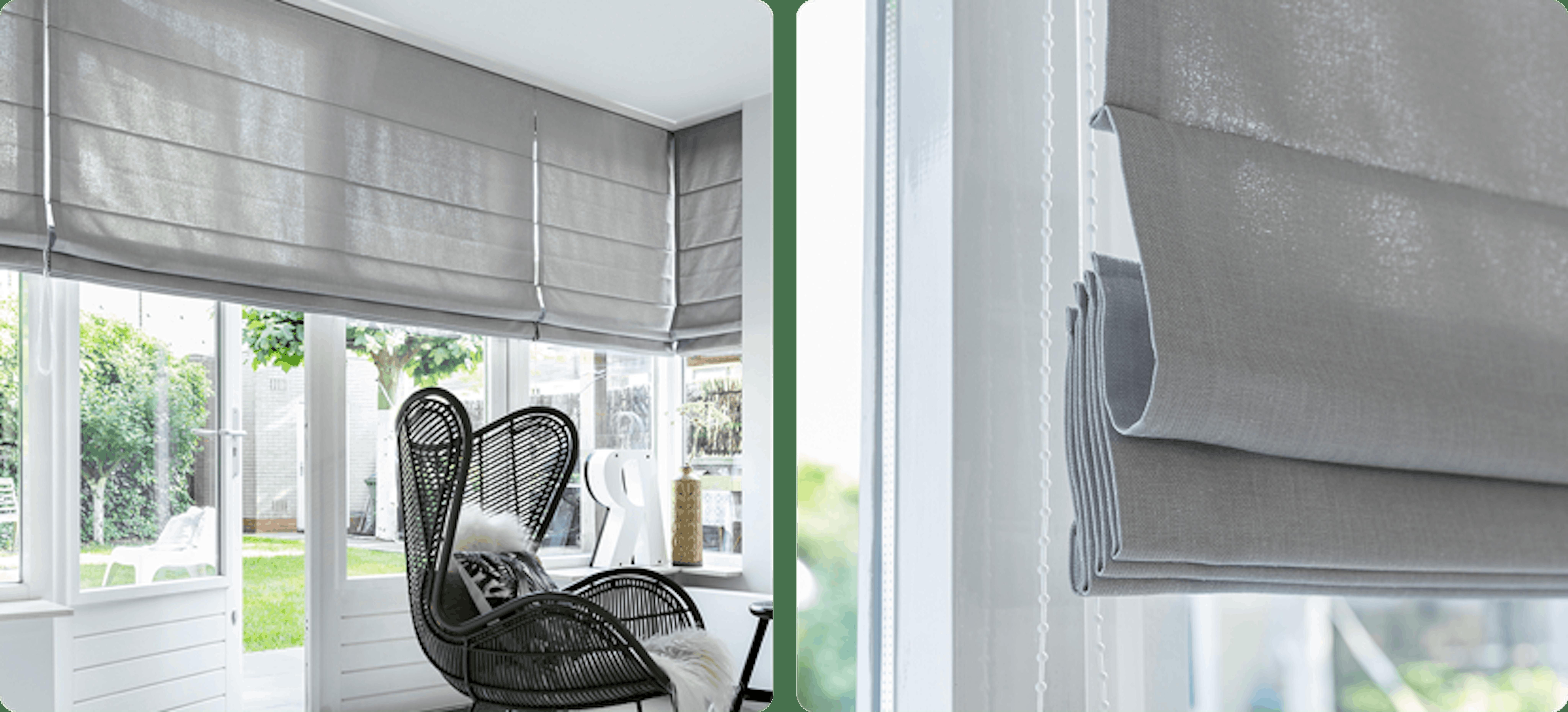 Raamdecoratie voor openslaande deuren