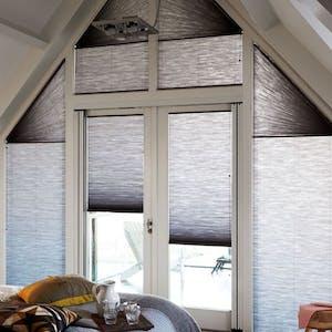 plisse gordijn schuin raam